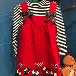 Girls Corduroy jumper with top